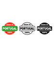 made in portugal icon portuguese made quality vector image vector image
