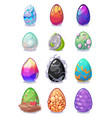 magic dragon colored eggs painted with vector image vector image