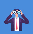 man looking through binoculars we are hiring vector image vector image