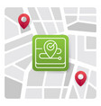 map logo icon with green gradient color vector image