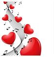 melody hearts vector image vector image