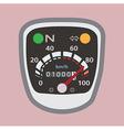 Miles speedometer P vector image