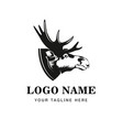 moose head symbol great for badge label sign icon vector image