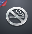 no smoking icon symbol 3D style Trendy modern vector image