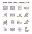 paver block floor vector image vector image