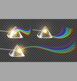 prism and spectrum rainbow collection set vector image vector image