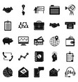 Public attitude icons set simple style vector image