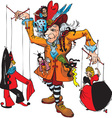 Puppeteer and marionettes vector image vector image
