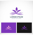 purple leaf abstract beauty logo vector image