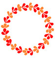 red and orange autumn wreath isolated on white vector image vector image