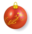Red Christmas ball reflecting light New Year vector image vector image