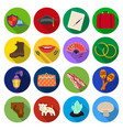 rest tourism business and other web icon in flat vector image vector image