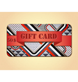 Retro stile abstract gift card vector image vector image