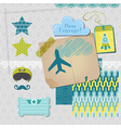Scrapbook Design Elements - Airplane Party Set vector image vector image