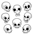 set eight skulls with different emotions vector image vector image