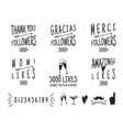 Set of vintage Thanks badges Social media vector image vector image