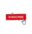 set subscribe button icon vector image vector image