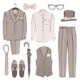 sketch groom clothing vector image