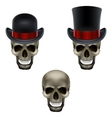 skull with hat vector image vector image