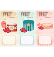 sweet collection vector image