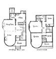 the bay ridge floor plans energy efficient vector image vector image
