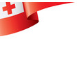 tonga flag on a white vector image