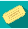 Train ticket flat icon vector image