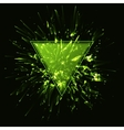 Triangular frame Abstract green explosion vector image vector image