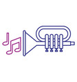 trumpet with music notes vector image