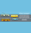 urban transport banner horizontal concept vector image vector image