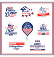 usa independence day badges set vector image vector image