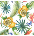 Watercolor seamless pattern of passion