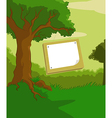 Wood plate vector image