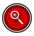 Zoom In Magnifying Glass Icon magnifying glass vector image vector image
