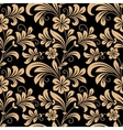 Floral seamless pattern with gold flowers vector image