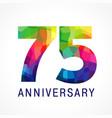 75 anniversary color logo vector image vector image