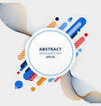 abstract blue orange and red color geometric vector image
