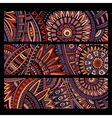 Abstract ethnic pattern cards set vector image vector image
