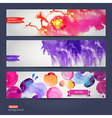 abstract hand drawn set of tree watercolor vector image vector image