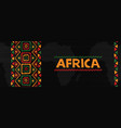 africa tribal art concept web banner background vector image vector image