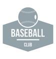 baseball logo simple gray style vector image