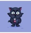 Black cat nervous vector image vector image
