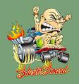 blaster board vector image vector image