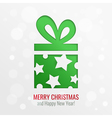 Christmas gift cut out background vector image