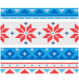 christmas knitted borders with traditional vector image vector image