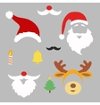 Christmas photo booth and scrapbooking set Santa vector image vector image