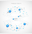 company profile overview template with blue vector image vector image
