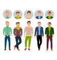 confident fashion man in casual clothes vector image vector image