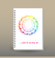 cover of diary or notebook sketchbook vector image vector image