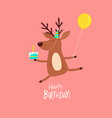 deer wishes a happy birthday graphics vector image vector image